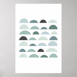 Poster Copie moderne abstraite. Minimaliste gris d'art de