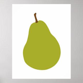 Poster Copie moderne de poire pour votre cuisine ou maiso