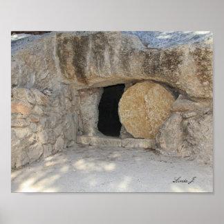 Poster Copie ouverte de toile de l'Israël de tombe de