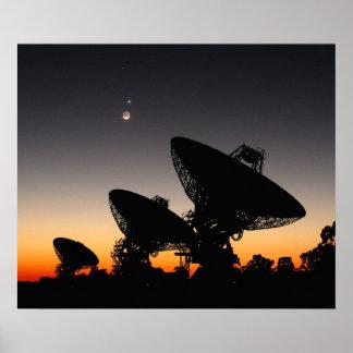 Poster Copie par radio de la Télescope-Australie