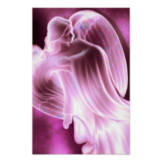 Poster Copie rose majestueuse de toile d'ange