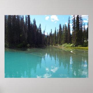 Poster Copie verte d'affiche de lac
