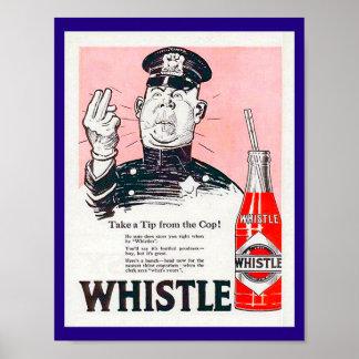 Poster Copie vintage 1920 d'annonce de soude de