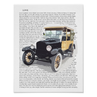 Poster Copie vintage d'art de voiture