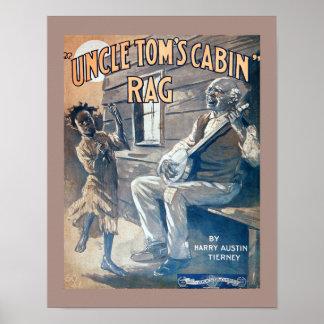 Poster Copie vintage de chiffon de cabine d'oncle Tom de