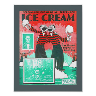 Poster Copie vintage de Howard Johnson de crème glacée de