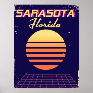 Poster Copie vintage de voyage des années 1980 de
