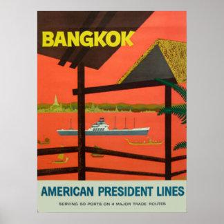 Poster Copie vintage vintage de Bangkok