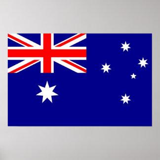 Poster Copie vue avec le drapeau de l'Australie