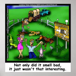 Poster Copies drôles de toile de parc animalier d'animal