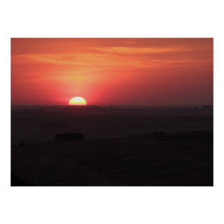 Poster Coucher du soleil au-dessus du Palouse