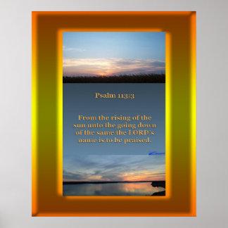 Poster Coucher du soleil de lever de soleil