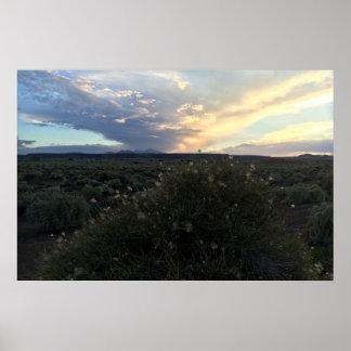 Poster Coucher du soleil de plume d'Apache
