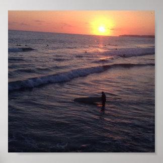 Poster Coucher du soleil de San Clemente