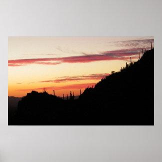 Poster coucher du soleil de Tucson