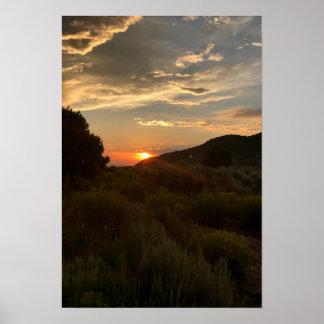 Poster Coucher du soleil de vallée de San Luis