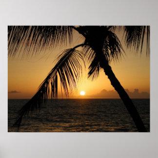 Poster coucher du soleil hawaïen