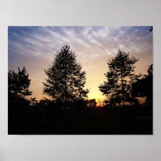 Poster Coucher du soleil par la photographie de nature