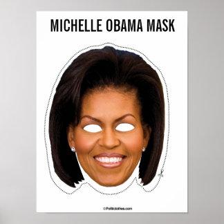 Poster Coupe-circuit de masque de Michelle Obama