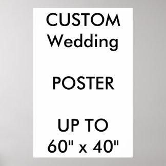 """Poster Coutume 16"""" de mariage x 24"""" portrait BRILLANT"""