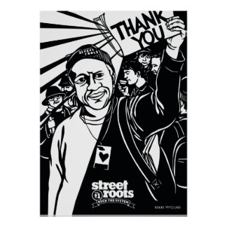 Poster Couverture de Merci de racines de rue - art de