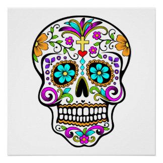 """Poster Crâne """"jour de sucre"""" de l'affiche morte"""