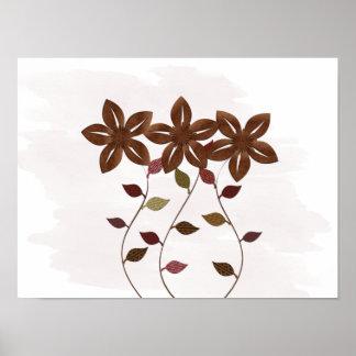 Poster Crèche de cuivre florale mignonne de bébé de