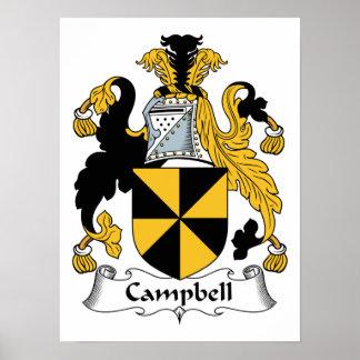 Poster Crête de famille de Campbell