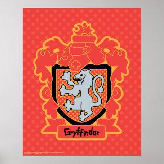 Poster Crête de Gryffindor de bande dessinée