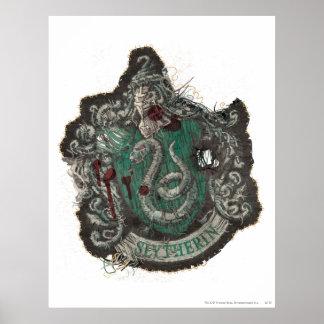 Poster Crête de Harry Potter | Slytherin - cru