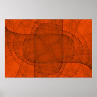 Poster Croix arrondie éternelle de fractale abstraite en