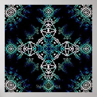 Poster Croix de Soundwave de mosaïque