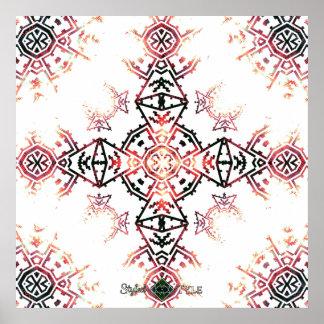 Poster Croix invertie de Soundwave de mosaïque