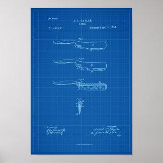 Poster Croquis de mise au point d'affiche de brevet
