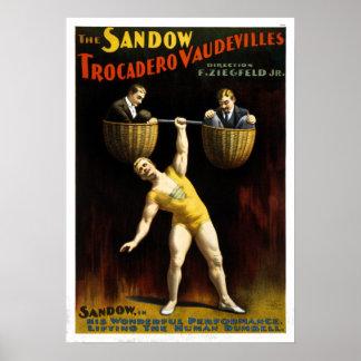 Poster Cru les vaudevilles de Sandow Trocadero