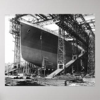 """Poster Cru RMS Titanic en affiche 16"""" de chantier naval x"""