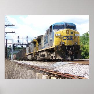 Poster CSX Railroad AC4400CW #6 avec une affiche de train