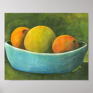 Poster Cuvette de fruit toujours de la vie
