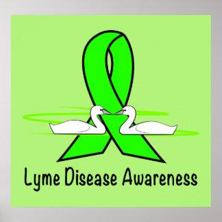 Poster Cygnes de la maladie de Lyme d'espoir