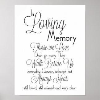 Poster Dans le signe affectueux de mariage de mémoire