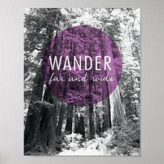 Poster Dans les bois   errent très loin citation