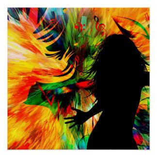Poster danse de fille