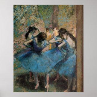 Poster Danseurs d'Edgar Degas | dans le bleu, 1890
