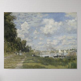 Poster d'Argenteuil de Claude Monet - de Bassin