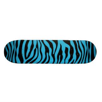 Poster de animal Cerulean lumineux de zèbre Skateboards Customisés
