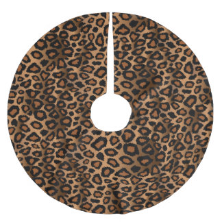 Poster de animal de léopard de Brown de Joyeux Jupon De Sapin En Polyester Brossé