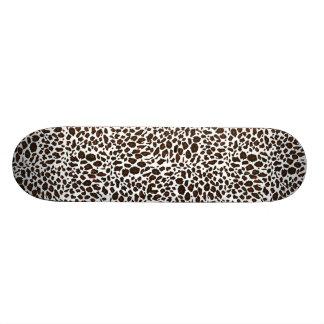 Poster de animal de léopard de neige planches à roulettes