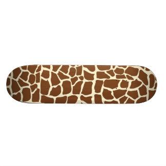 Poster de animal de motif de girafe plateaux de skateboards customisés
