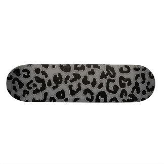 Poster de animal gris de léopard skateboard old school  21,6 cm