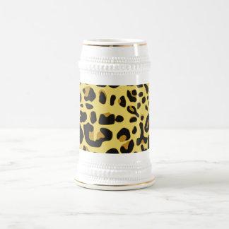 Poster de animal jaune noir abstrait de guépard de chope à bière